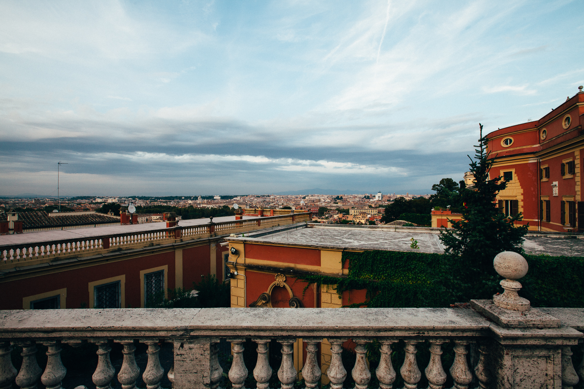 the view from gianicolo, Rome. by Leonie Wise