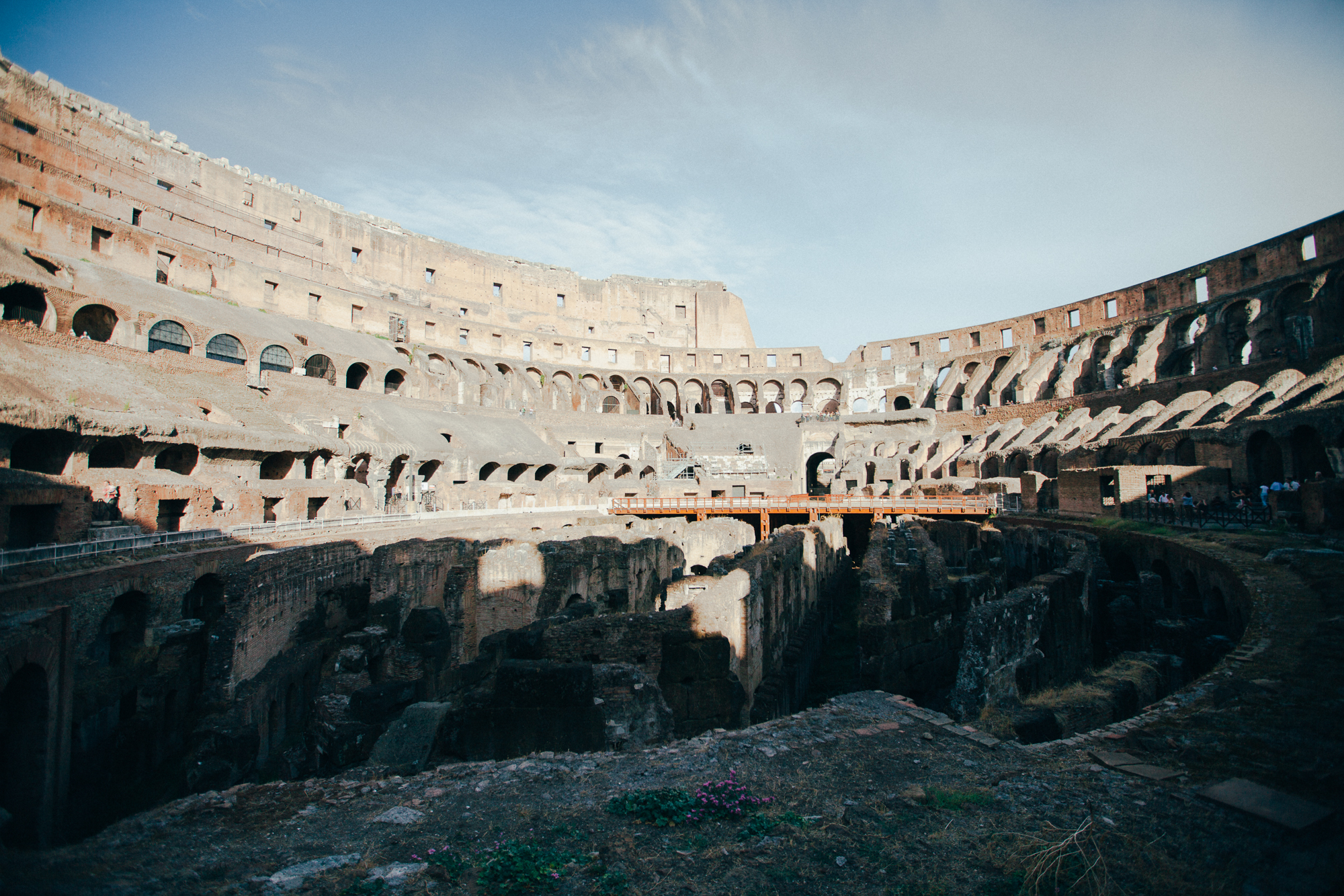 inside the coliseum, rome. by leonie wise