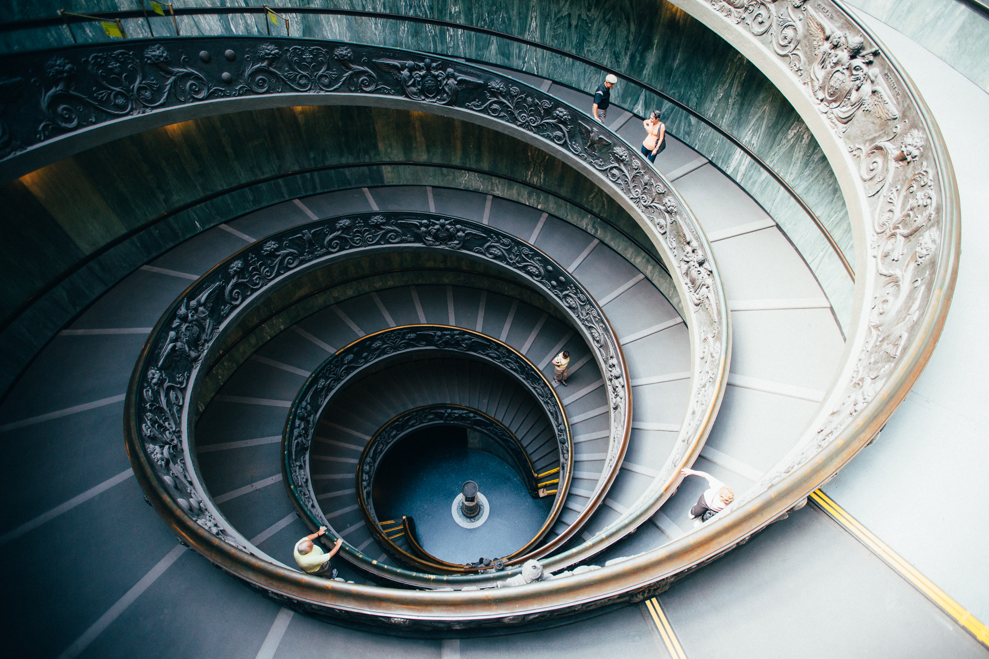 double helix in the vatican, rome. by leonie wise