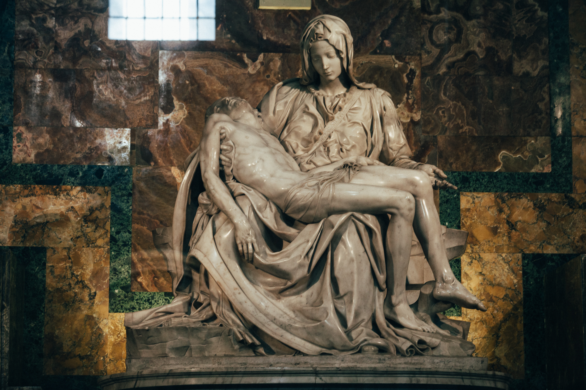 the pietà by michaelangelo, saint peter's basilica, vatican city. by leonie wise