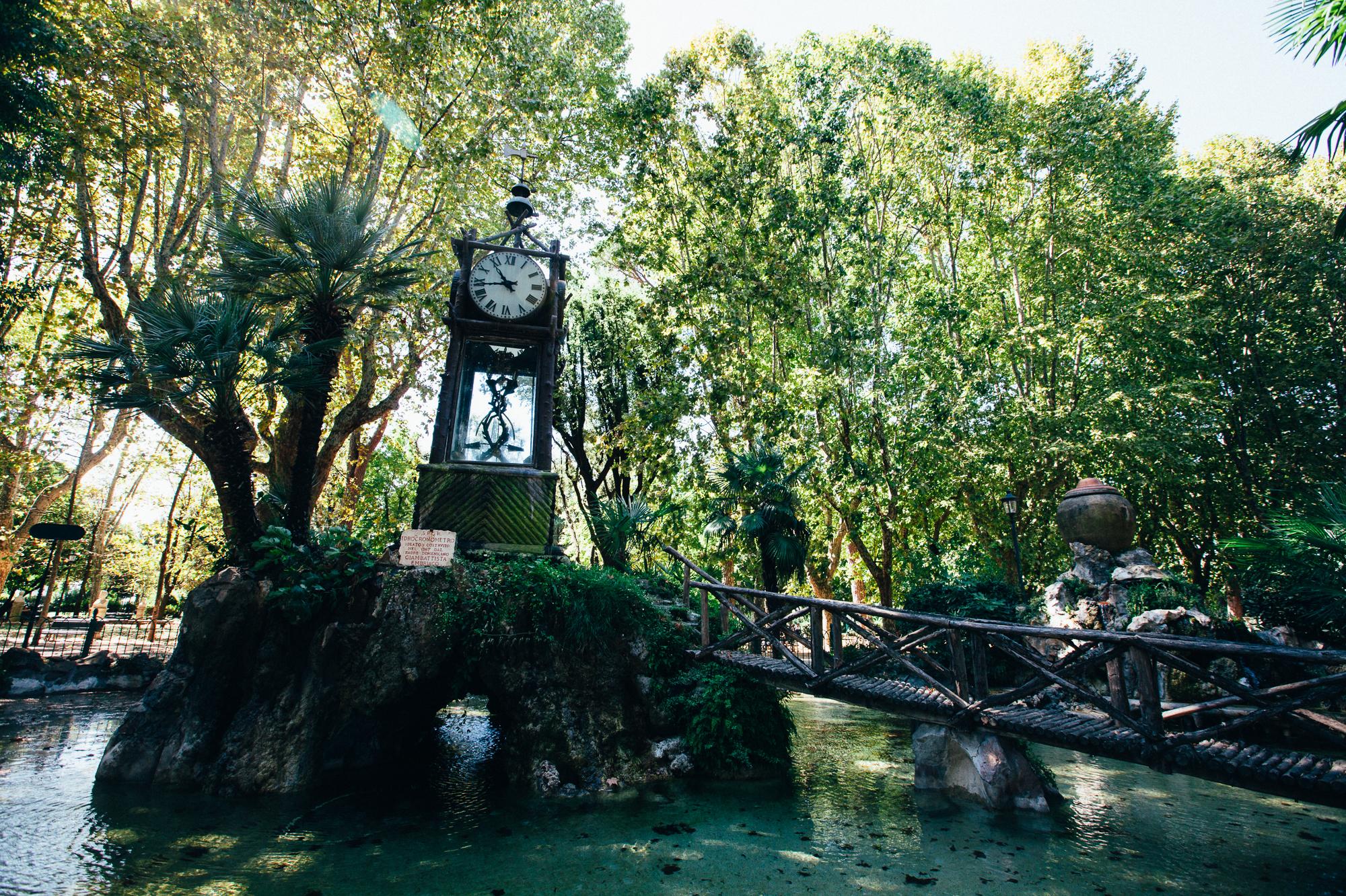 idrocronometro (water clock), villa borghese gardens, rome. by leonie wise