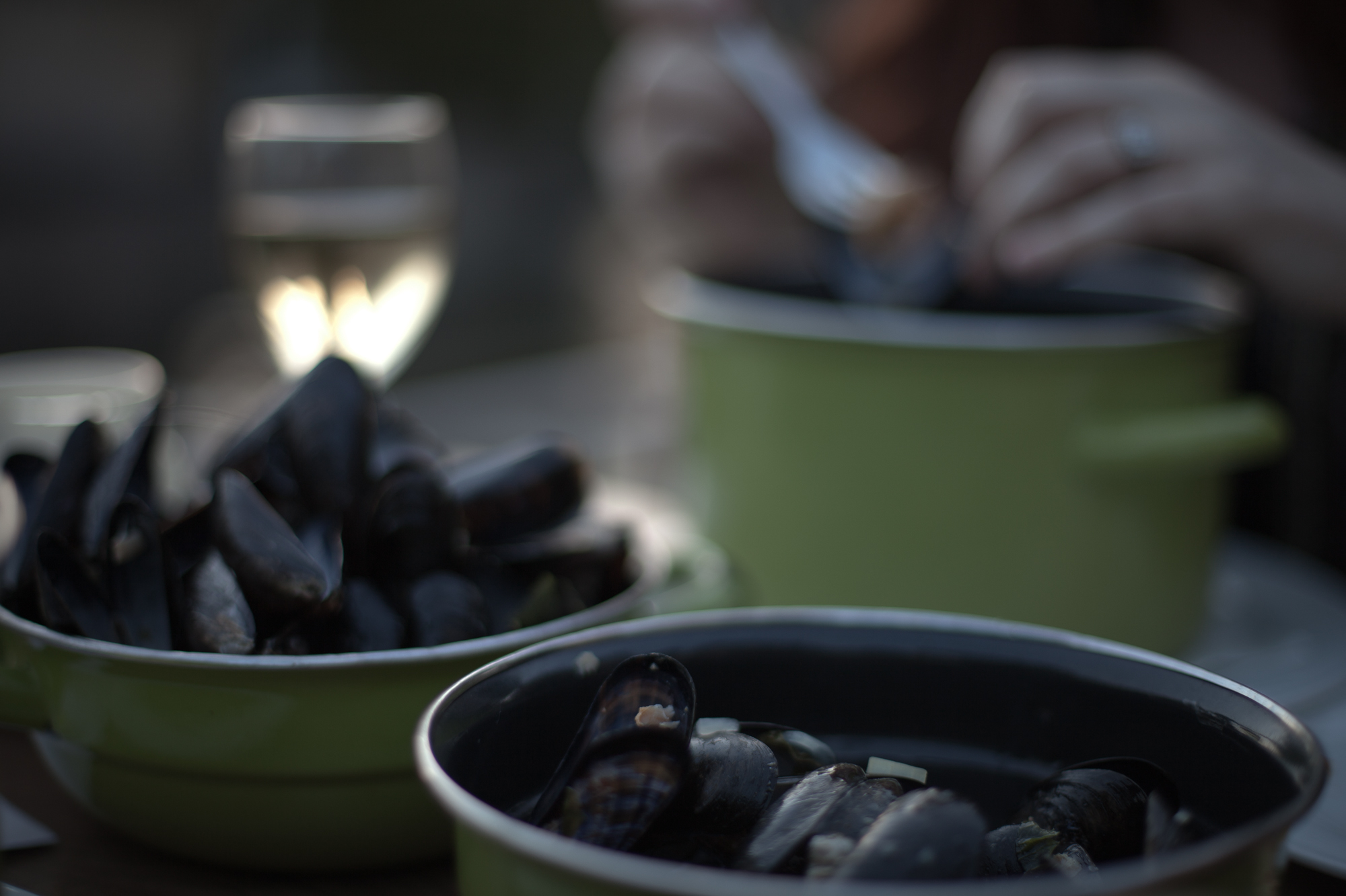 moules frites in brugge. by leonie wise