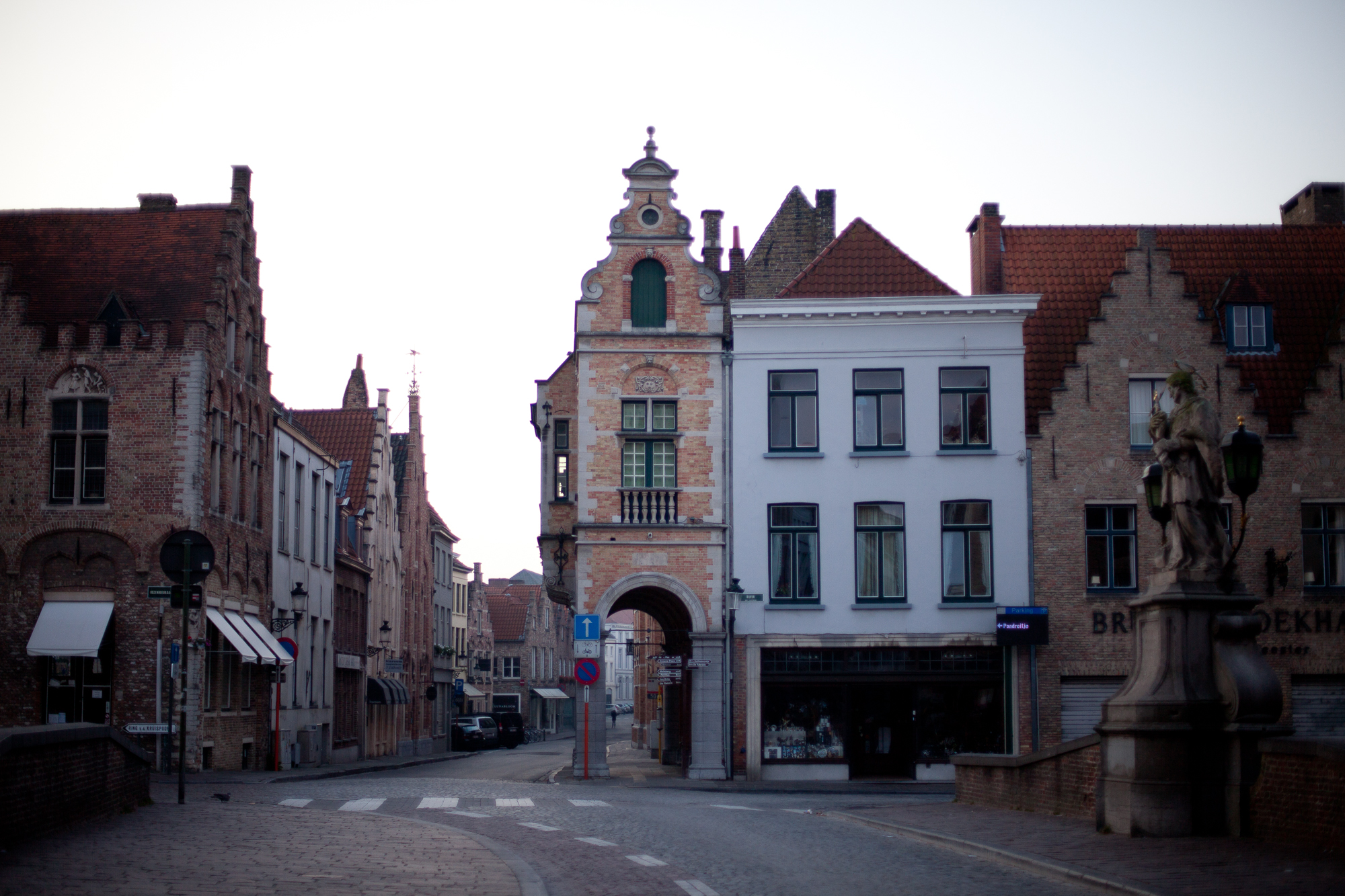 empty streets in brugge. by leonie wise