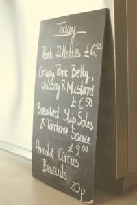 rochelle canteen, shoreditch, london - today's menu - photo by leonie wise