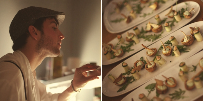 Chef Jimmy and Canapé at the Wild Food Kitchen pop-up restaurant in Hackney. Photos (c) Leonie Wise
