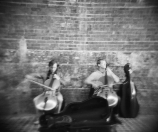 Musicians on the southbank, london 2012. by leonie wise