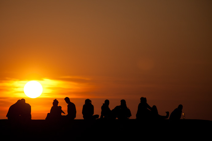 sunset and silhouettes - photo copyright holder: leonie wise