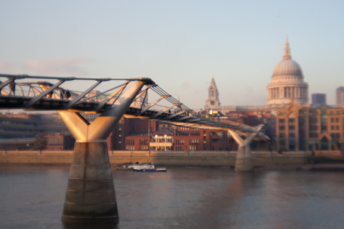 millenium bridget and st pauls, as taken from bankside. copyright leonie wise
