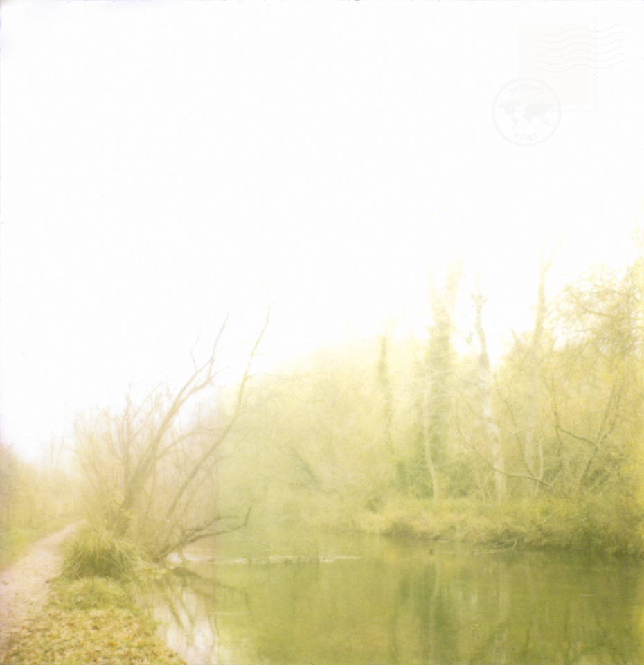 river and footpath in fog. copyright leonie wise