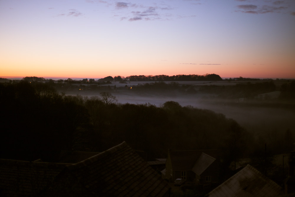 sunrise in the cotswolds. copyright leonie wise