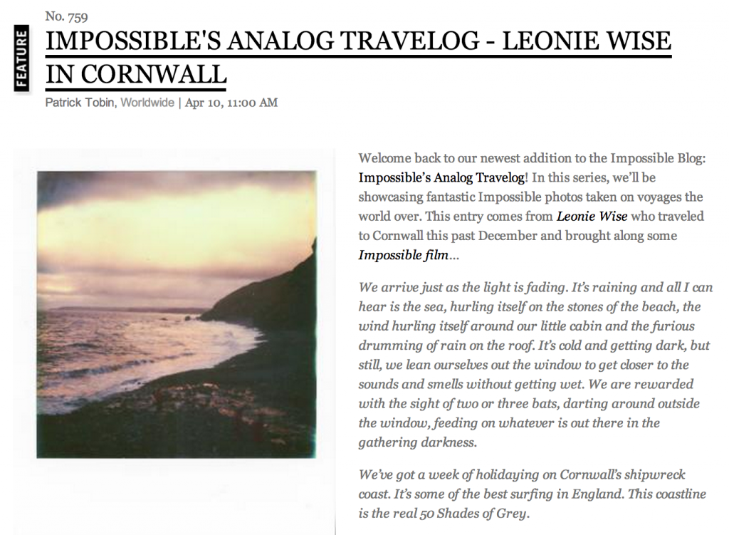 impossible analog travelog leonie wise in cornwall - screenshot