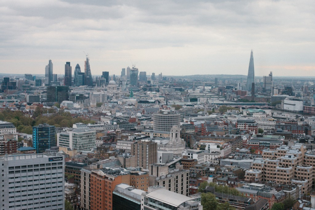 photo of london looking towards st. pauls and canary wharf from centrepoint level 33 - copyright leonie wise all rights reserved