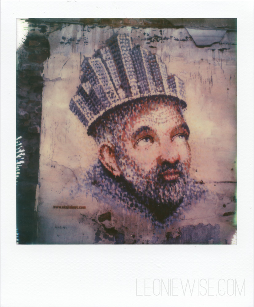 Polaroid photographs of street art by James Cochran (aka jimmyc) in Shoreditch London. Copyright Leonie Wise. All rights reserved