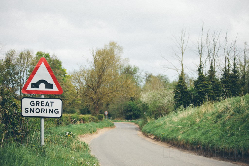 great snoring road sign. copyright leonie wise all rights reserved