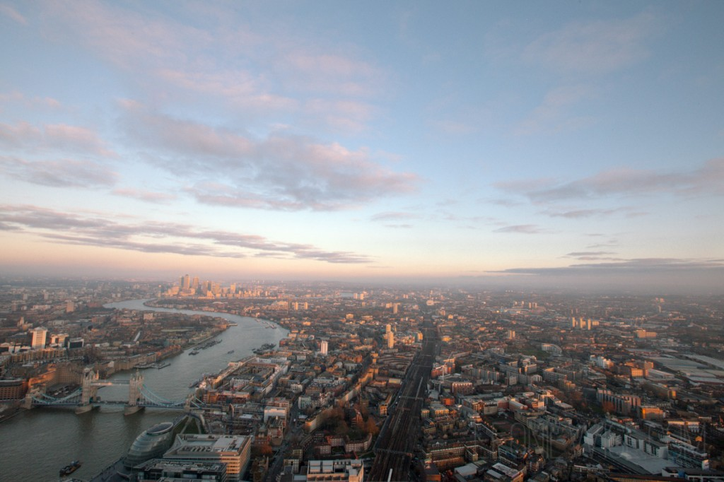 view from the shard, london. copyright leonie wise. all rights reserved