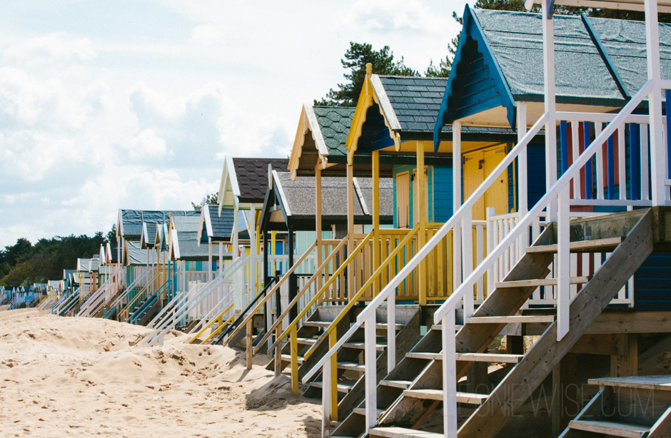 beach huts at wells next the sea, north norfolk. copyright leonie wise - all rights reserved
