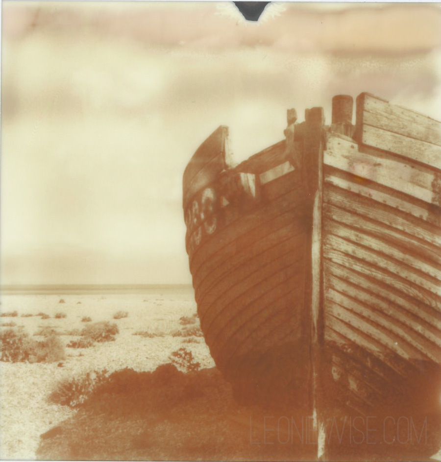 polaroid of a boat a dungeness