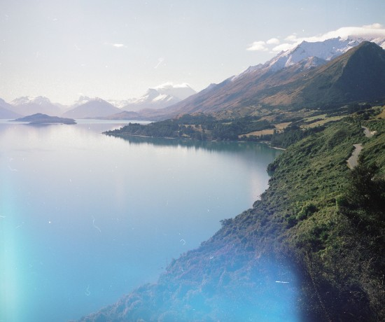 the road to glenorchy from queenstown. copyright leonie wise