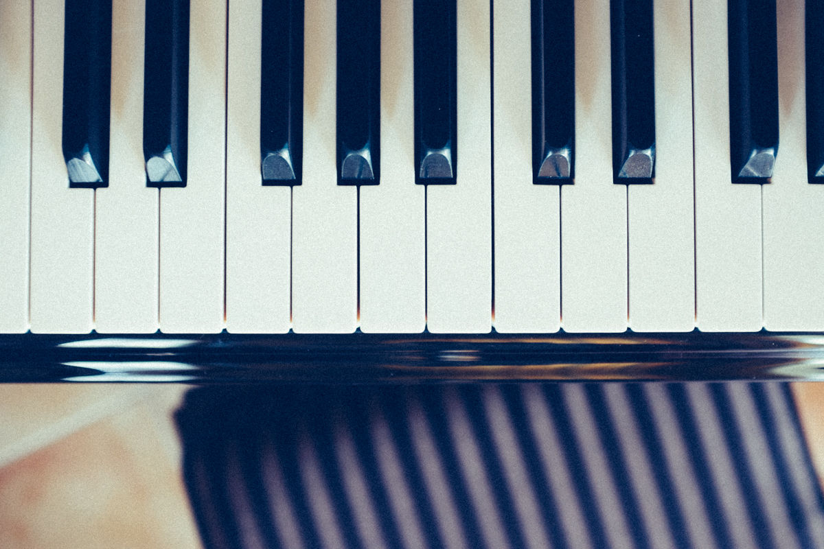 piano keys and stool. (c) leonie wise