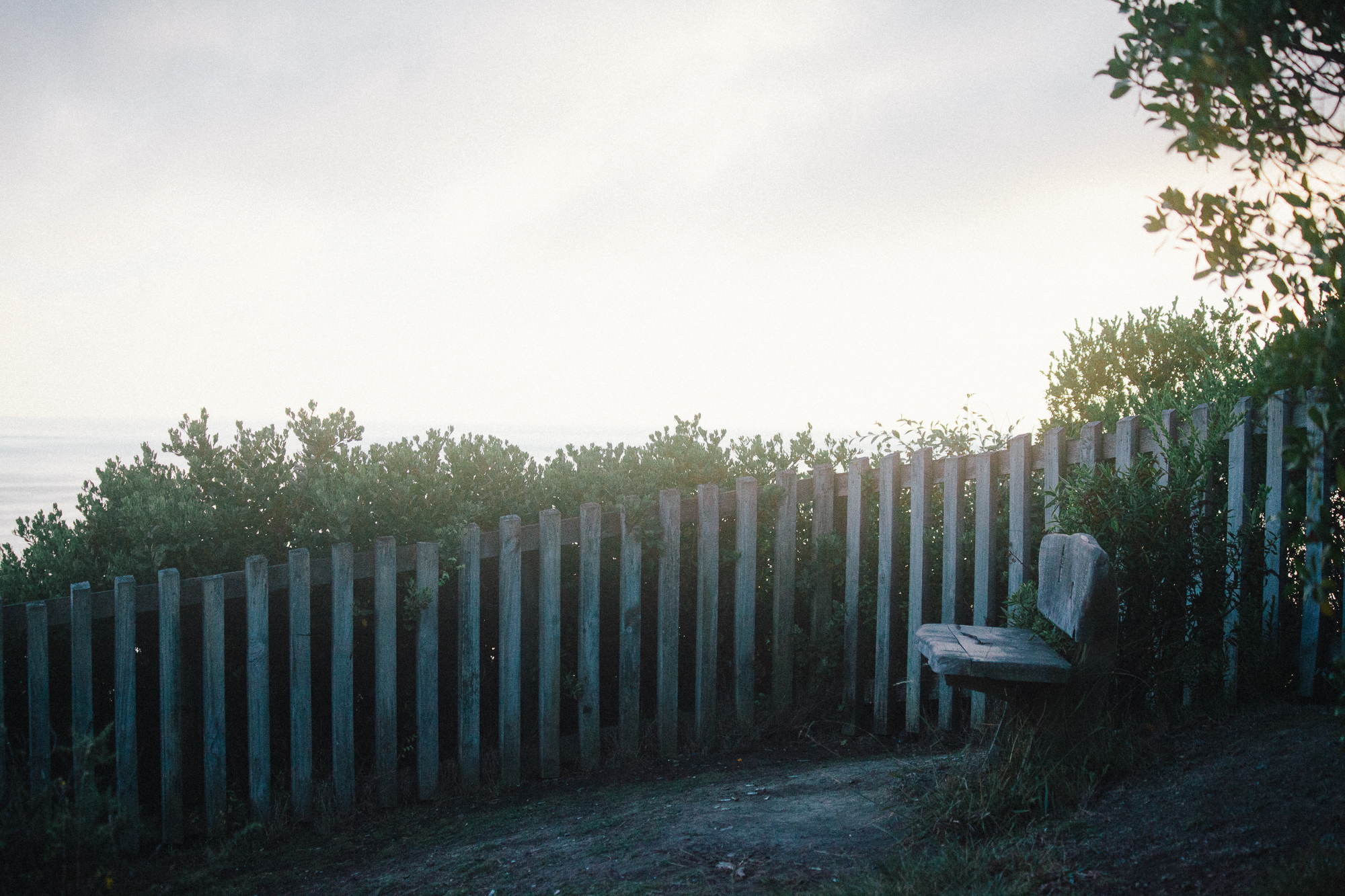 a seat and a fenceline. by leonie wise