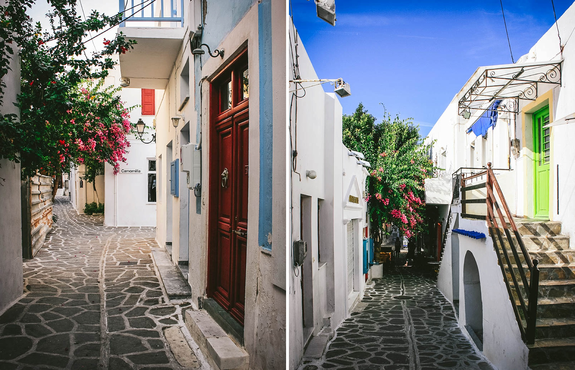 STREETS ON PAROS ISLAND. BY LEONIE WISE