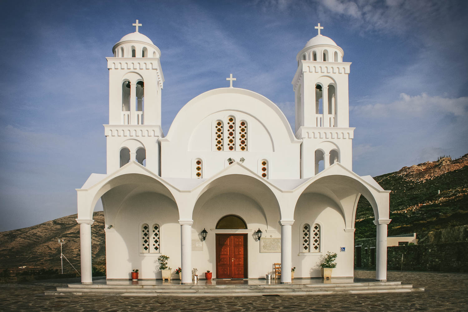 CHURCH ON PAROS ISLAND. BY LEONIE WISE